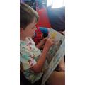 Blake doing some super reading