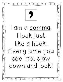 A comma reminder.