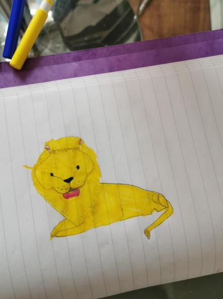 Mitsy's lion. Fab!