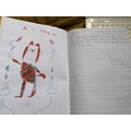 Charlie R's super tiger picture and writing