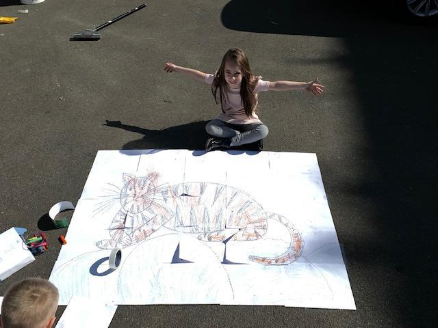 Isabelle's fantastic tiger picture