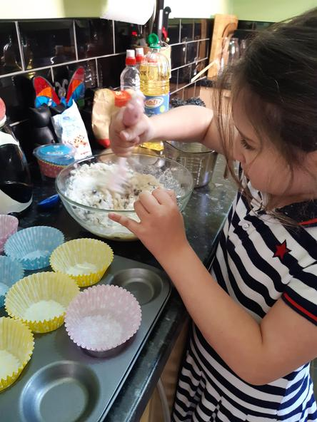 Making cakes. Delicious!