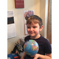 Jimmy and his sphere (globe)