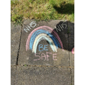 Mia's super chalk rainbow