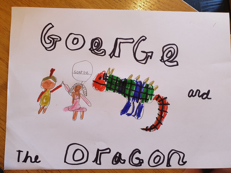 A great George and the dragon picture.