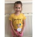 Erin's medal for VE day