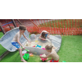 Blake, Brandon and Elsie-Leigh enjoying the sun