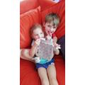 Blake and Elsie-Leigh having a cuddle
