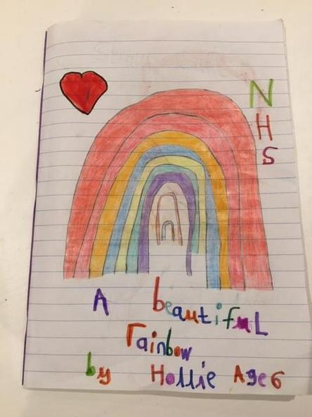 A fantastic rainbow to cheer us up. By Hollie.