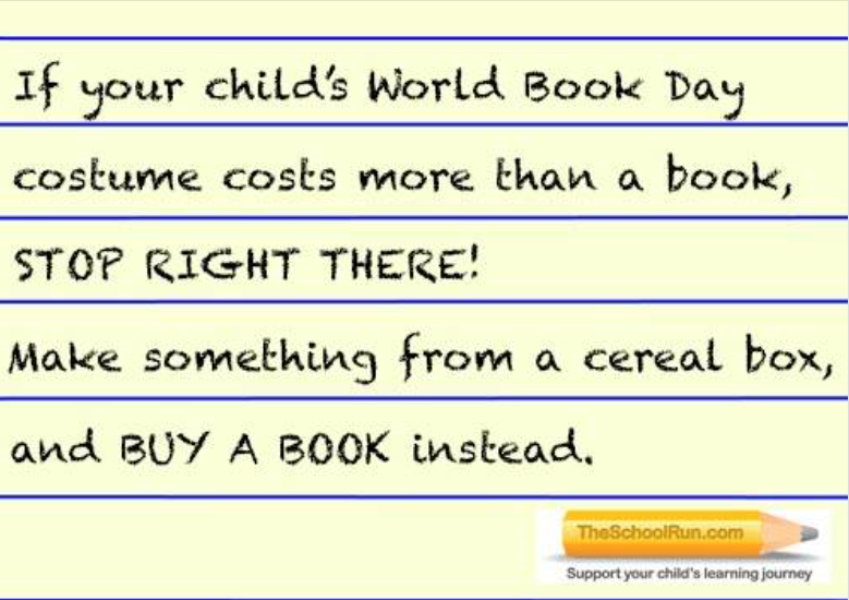 World Book Day - costume versus book.