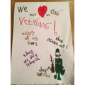 Hollie's brilliant VE day poster!