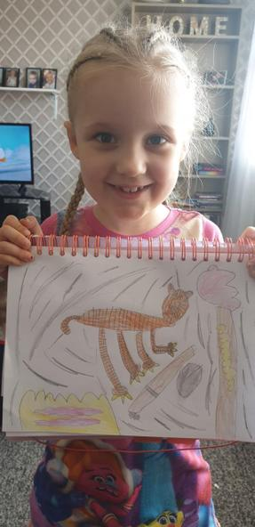 Harper's amazing tiger picture.
