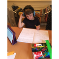 Jimmy completing his 3D shape morning work