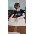 Blake being creative