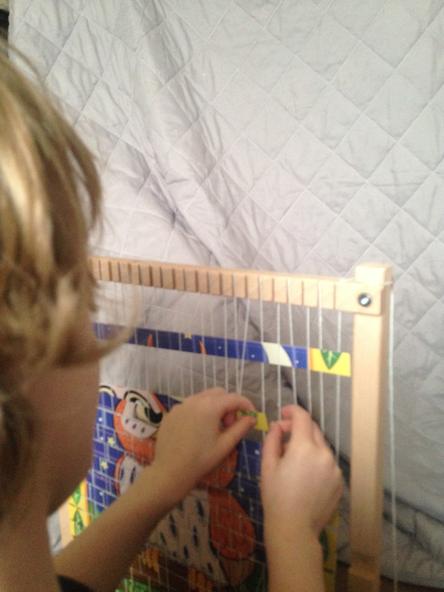 Busy weaving.