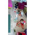 Blake, Brandon and Elsie-Leigh being creative