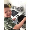 Kylan making yummy cakes