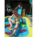 Joshua enjoying time outside