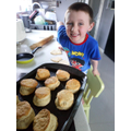 Joshua and his delicious looking scones