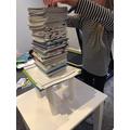 Book tower challenge. Wow Hollie!
