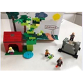 Billy's lego model of Jack and the beanstalk