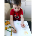 Joshua and his super plants investigating