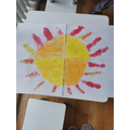 Mia's beautiful sunshine picture for her window