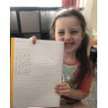 Olivia's amazing maths calculations