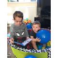 Kyan and Kayden on Kayden's 1st birthday