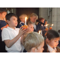 Year Three children lead the service