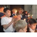Year Three children lead the service