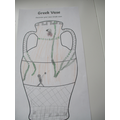 Designing a Greek pot ready to make in clay