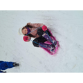 Evie having sledging fun!