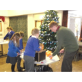 All children made a Christingle with Rev Chris.