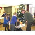 All children made a Christingle with Rev Chris.