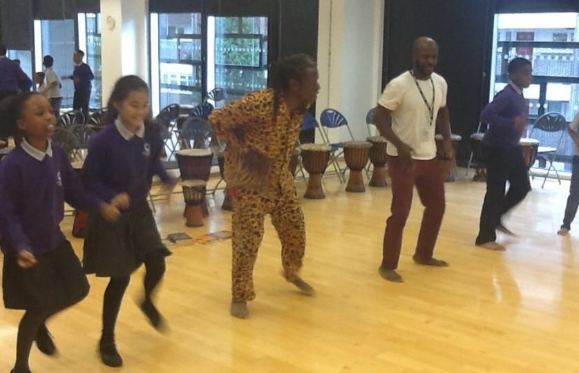 Spoken word and dance during Black History Month 2019