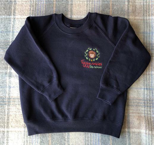 Navy Blue Sweatshirt   -  Ages 2, 3-4 & 5-6