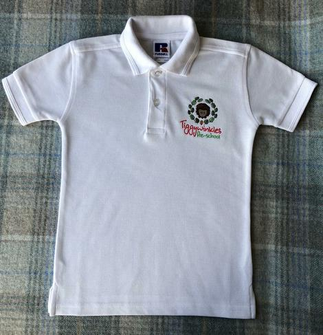 White or Dark Blue Polo    -   Ages 2, 3-4 & 5-6
