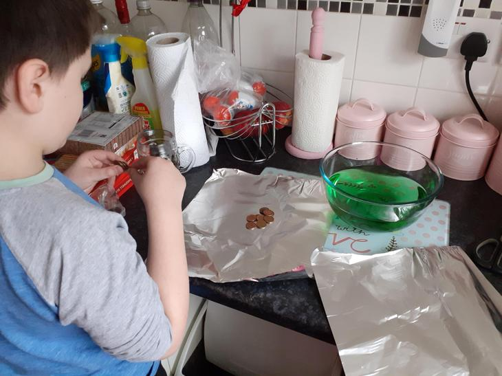 Jamie's tinfoil boat experiment