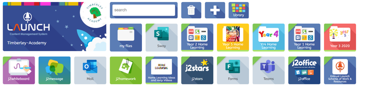 Step 1 - Login to J2Launch and click Year 5 Home Learning.