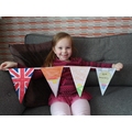 Flag decorating to celebrate VE Day.