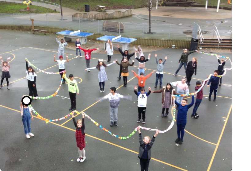 I think we can safely say... we won the reading challenge! THIS IS THE LONGEST CHAIN EVER!