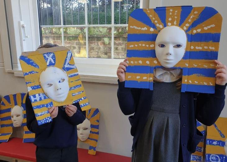 Children really enjoyed making their 'Deathmasks'