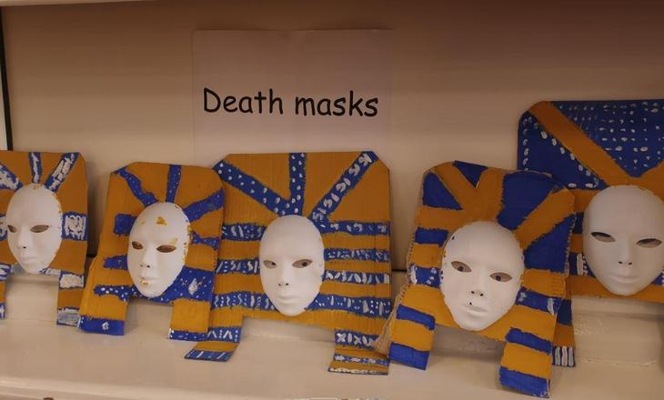Amazing Egyptian masks.
