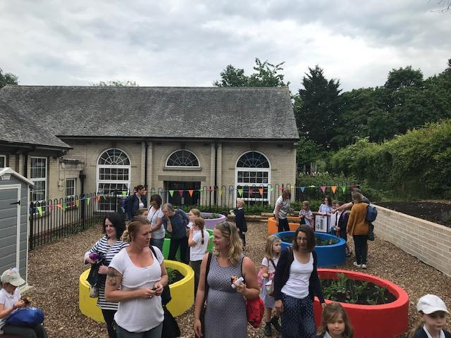 Our families were welcomed to view the new site