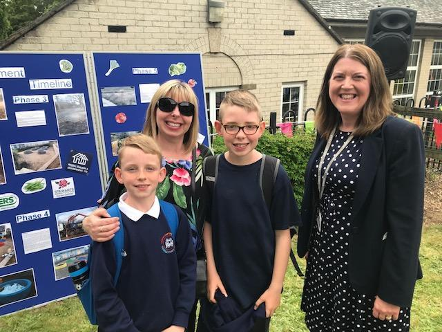 The head teacher lead the celebrations on open day