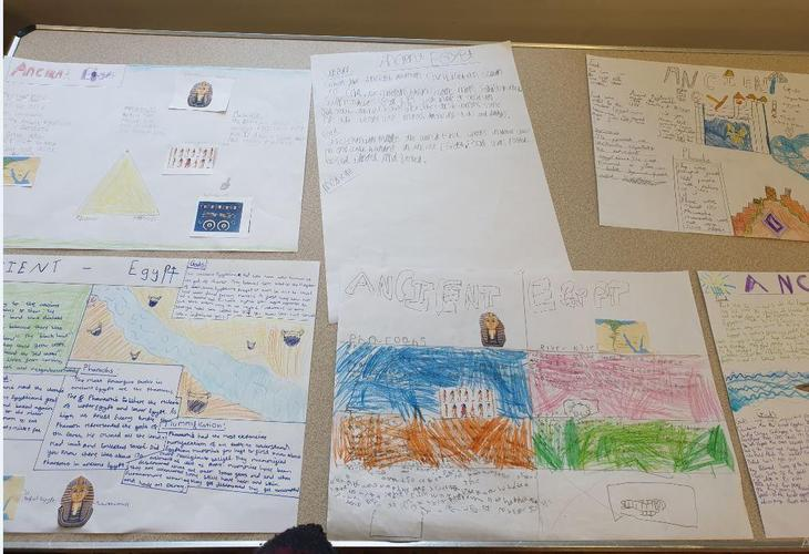 Some amazing project work all about Ancient Egypt