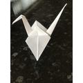Alex's Origami of a Crane