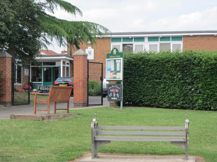The front of school