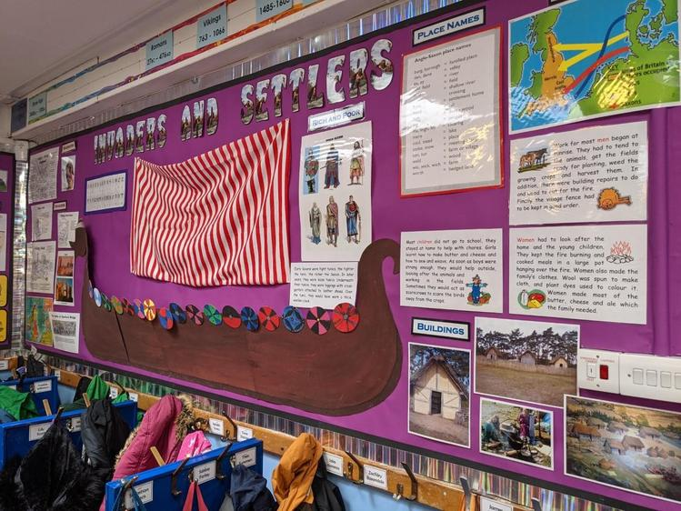 Our display on invaders and settlers